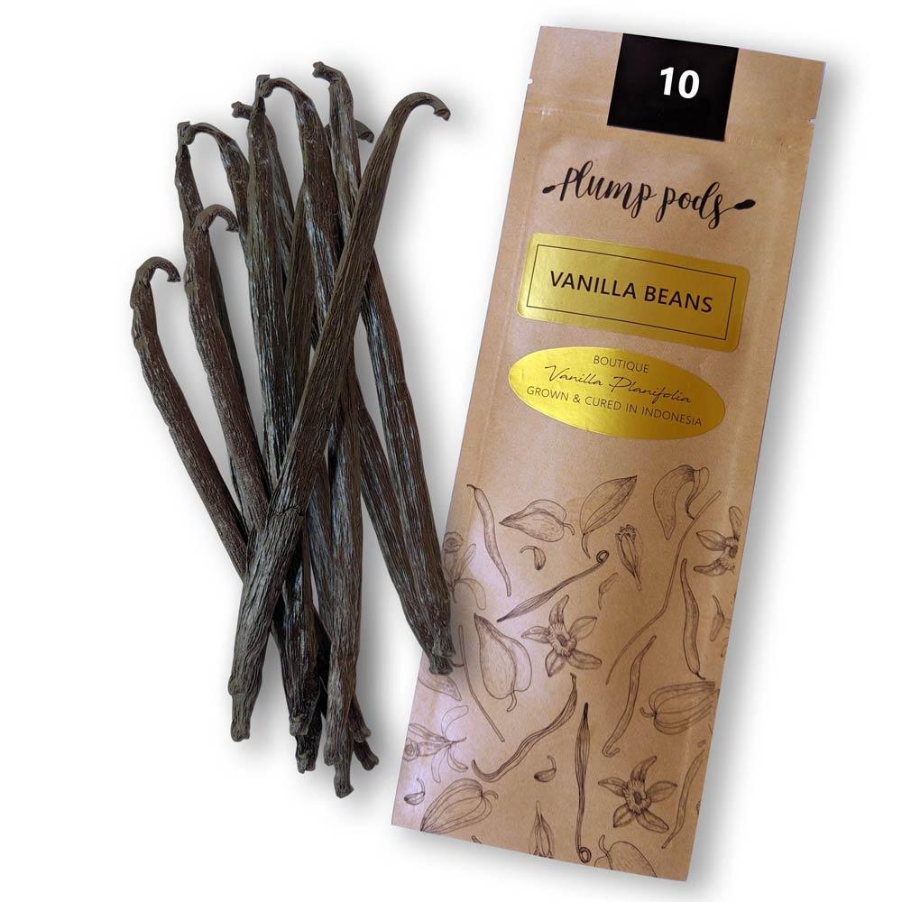 10 premium vanilla beans - Grade A