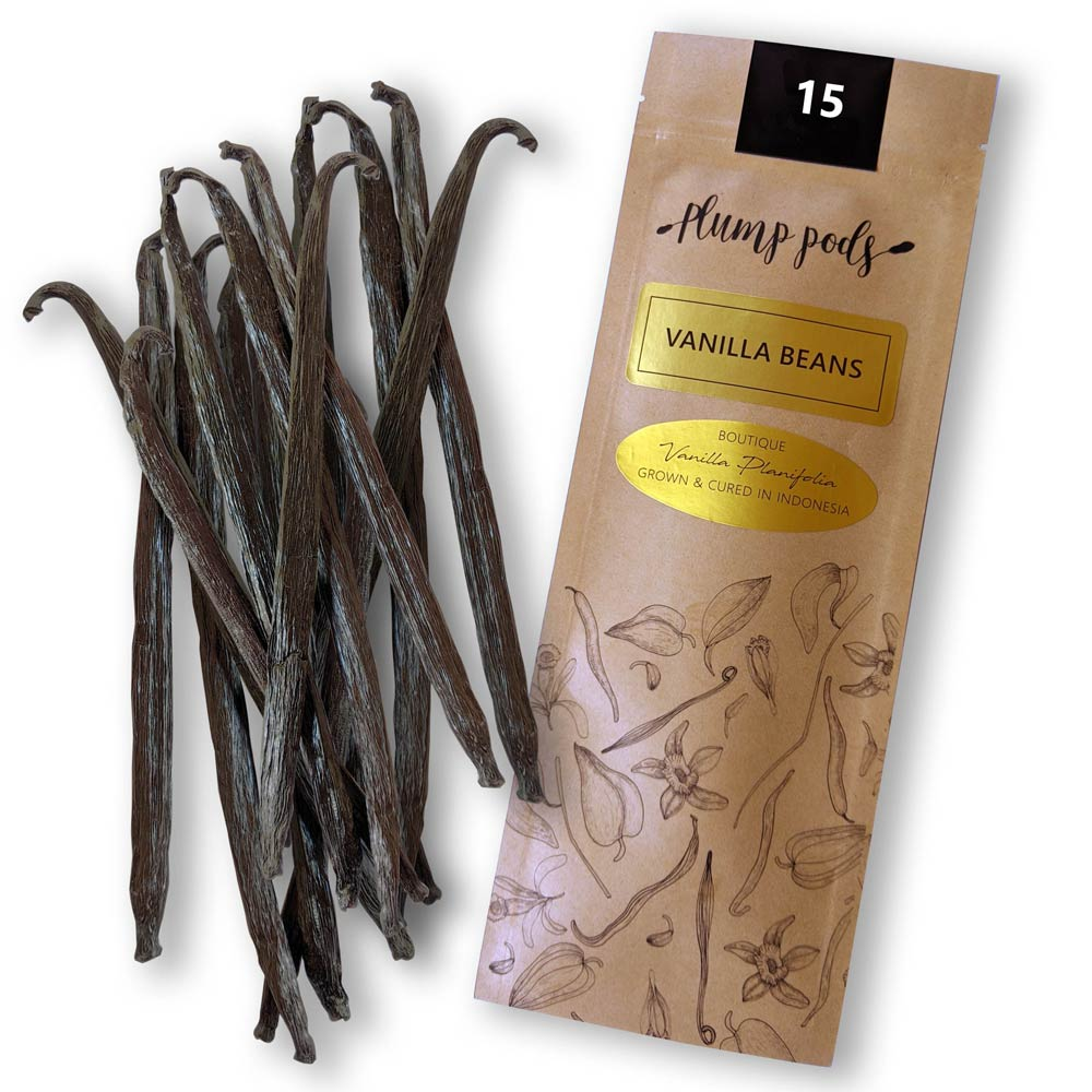 15 premium vanilla beans - Grade A