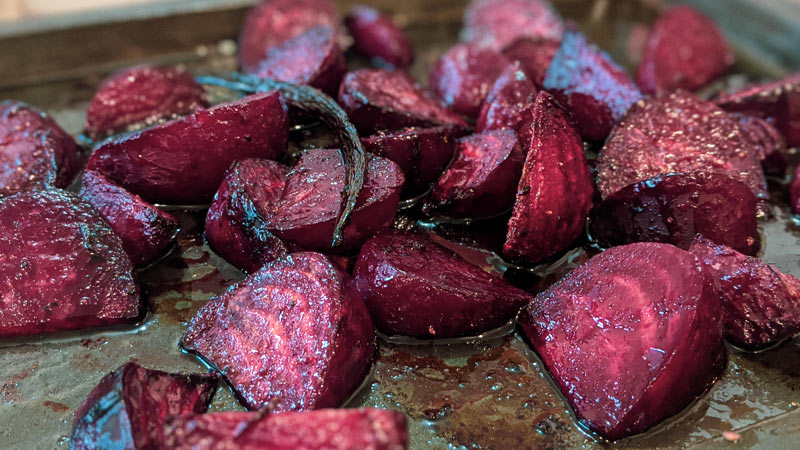 Vanilla and balsamic glazed beetroots